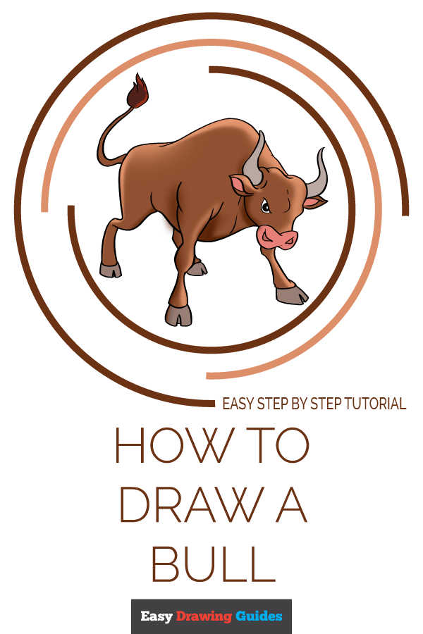 How to Draw a Bull Pinterest Image