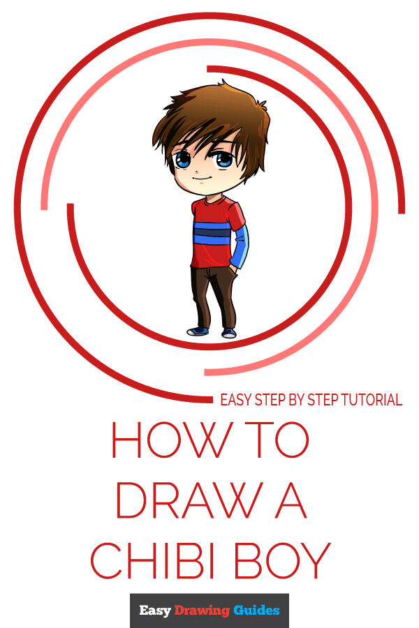 How to Draw a Chibi Boy Pinterest Image