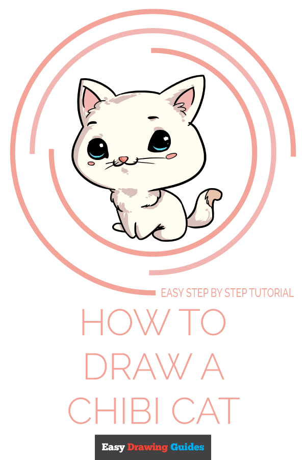 How to Draw Chibi Cat | Share to Pinterest