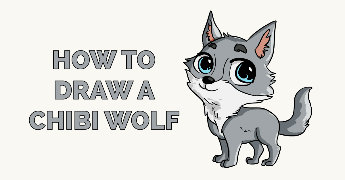 How to Draw a Chibi Wolf Featured Image