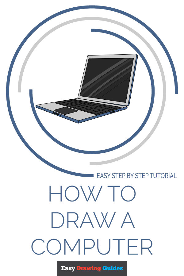 How to Draw Computer | Share to Pinterest