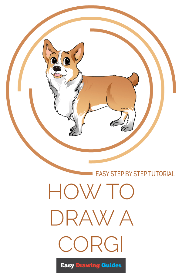 How to Draw Corgi | Share to Pinterest