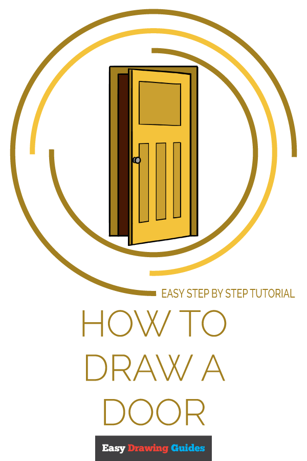 How to Draw Door | Share to Pinterest