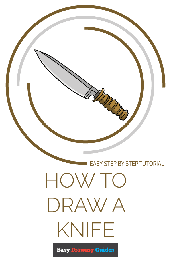 How to Draw Knife | Share to Pinterest