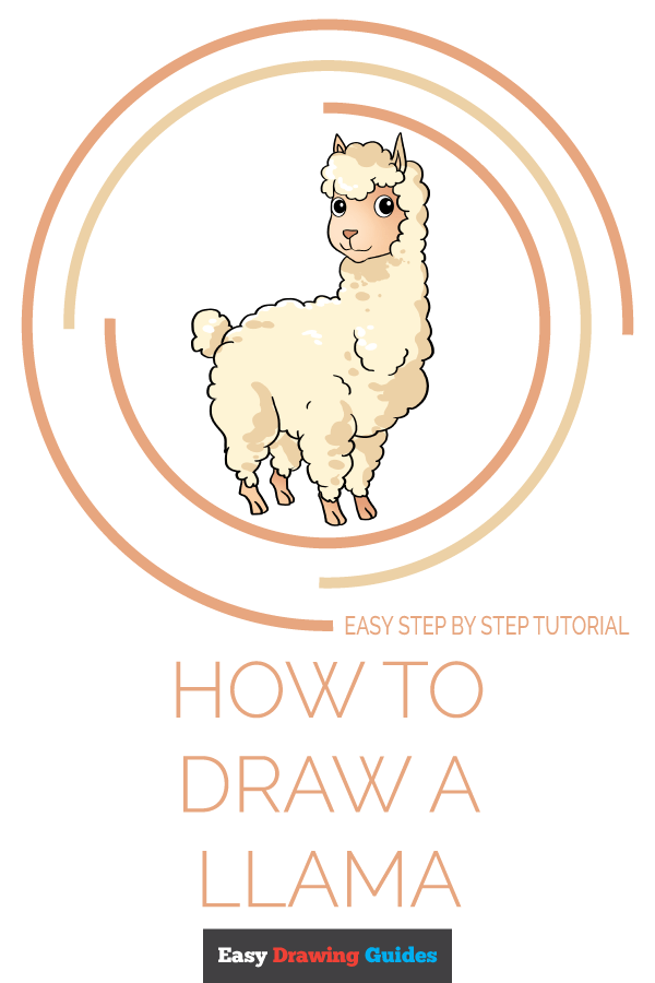 How to Draw Llama | Share to Pinterest