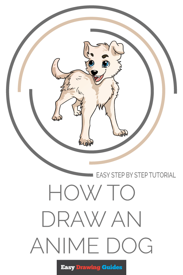 How to Draw an Anime Dog Pinterest Image