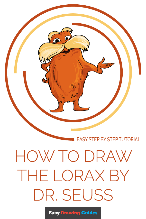 How to Draw The Lorax by Dr. Seuss Pinterest Image