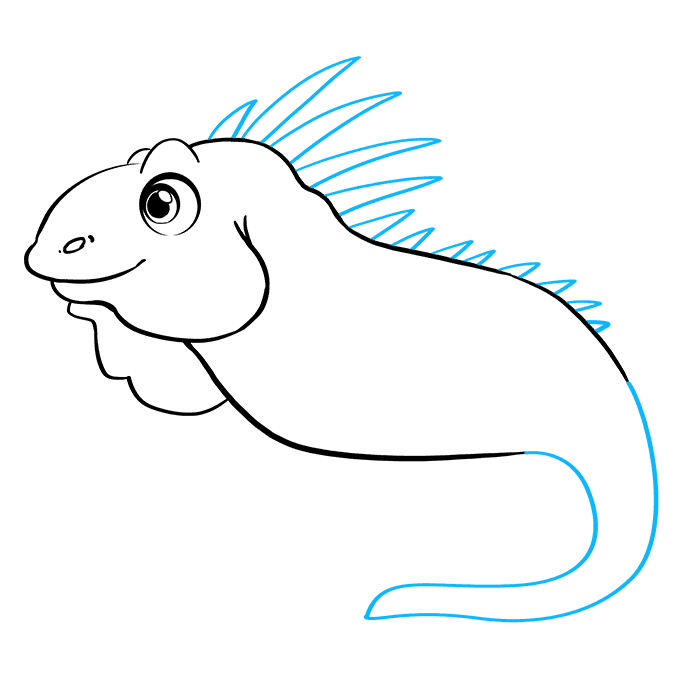 How to Draw Iguana: Step 7