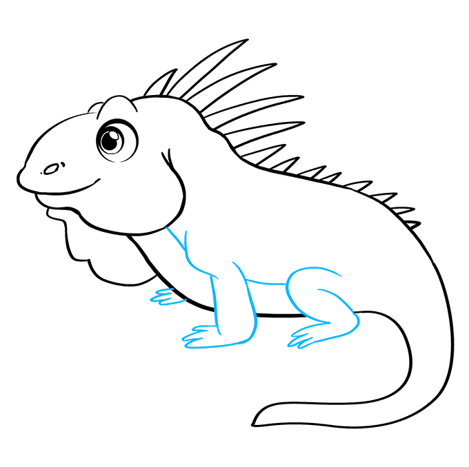 How to Draw Iguana: Step 8