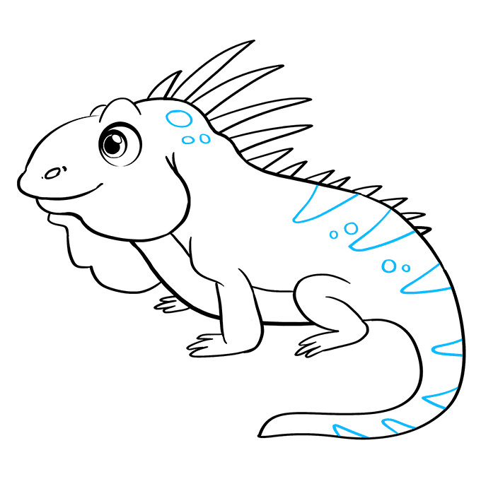 How to Draw Iguana: Step 9