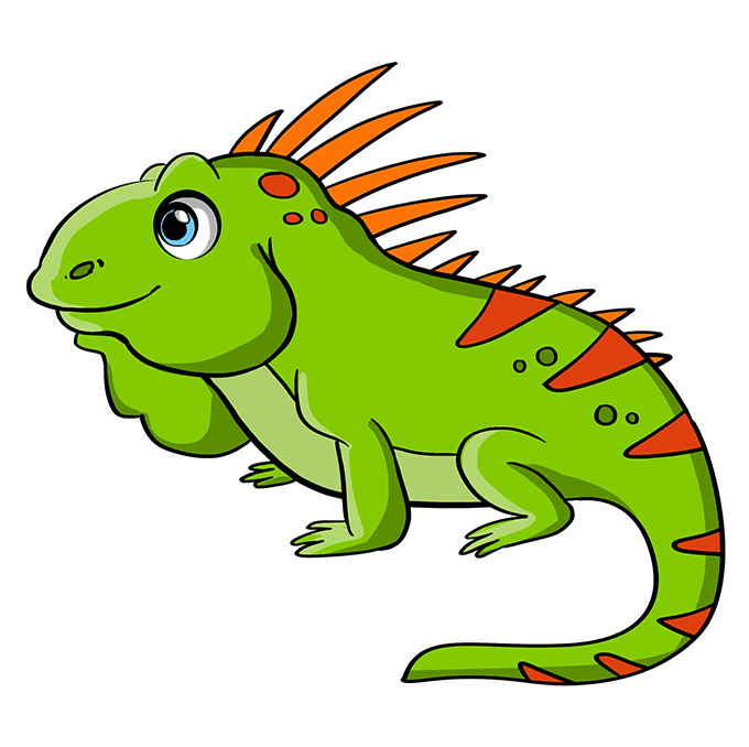 How to Draw Iguana: Step 10