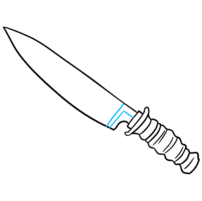 How to Draw Knife: Step 8