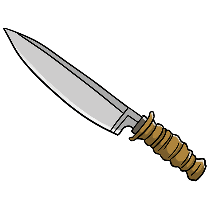 How to Draw a Knife Step 10