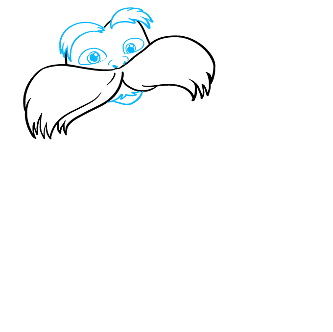 How to Draw The Lorax by Dr. Seuss Step 03