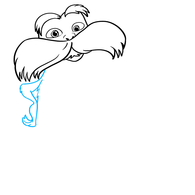 How to Draw The Lorax by Dr. Seuss Step 04