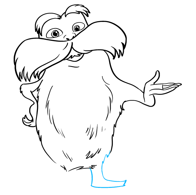 How to Draw The Lorax by Dr. Seuss Step 08