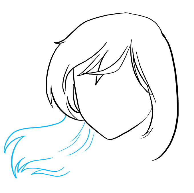 How to Draw Sad Anime Face: Step 3