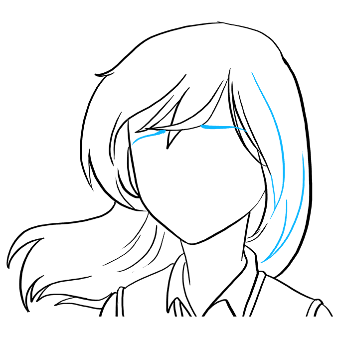 How to Draw Sad Anime Face: Step 5