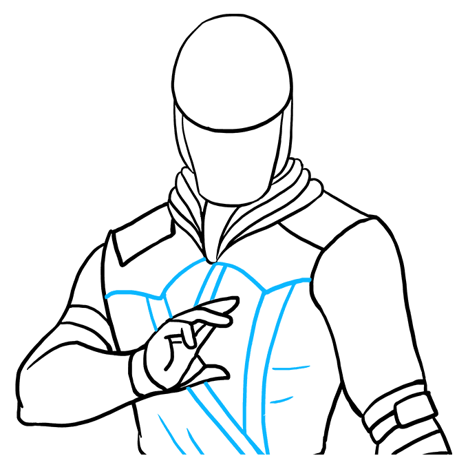 How to Draw Scorpion from Mortal Kombat: Step 7
