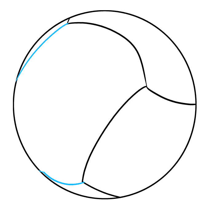 How to Draw Volleyball: Step 4