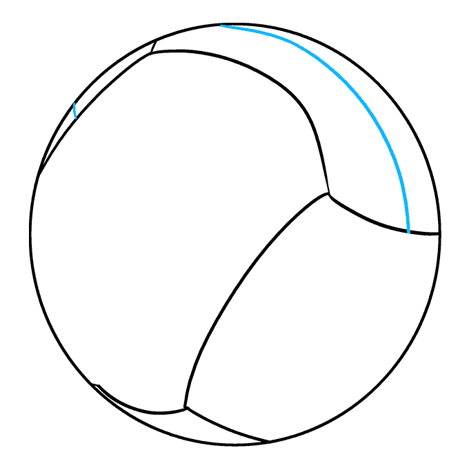 How to Draw Volleyball: Step 5