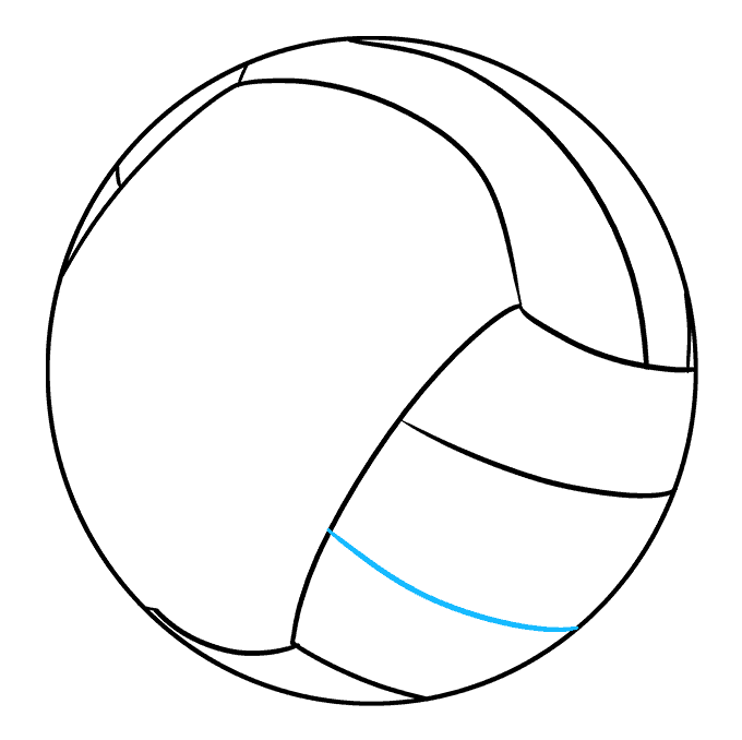 How to Draw Volleyball: Step 7