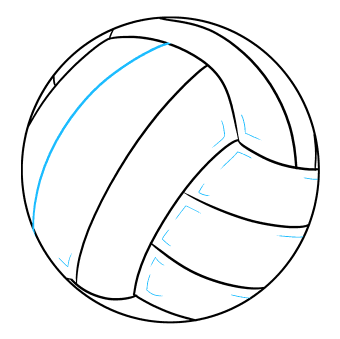 How to Draw Volleyball: Step 9