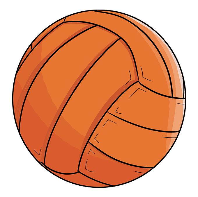 How to Draw Volleyball: Step 10