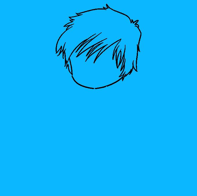 How to Draw Chibi Boy: Step 3