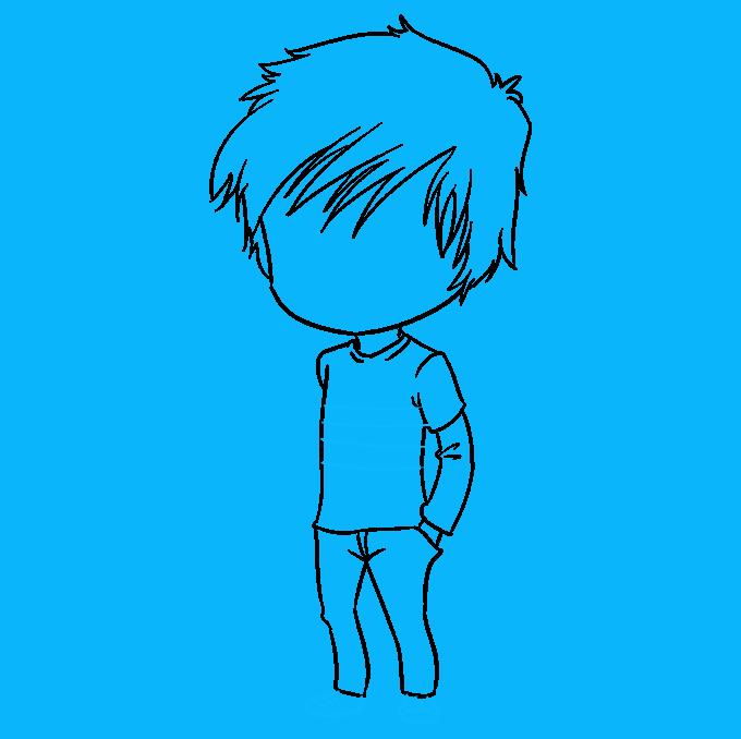 How to Draw Chibi Boy: Step 8
