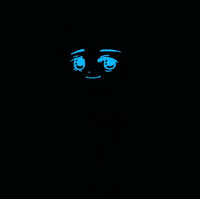How to Draw Chibi Boy: Step 9