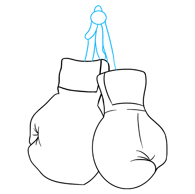 How to Draw Boxing Gloves: Step 8