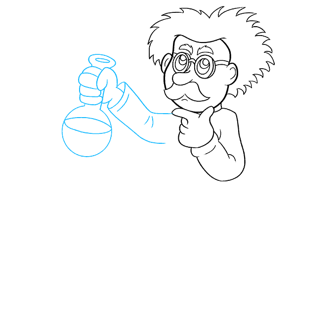 How to Draw Cartoon Scientist: Step 6