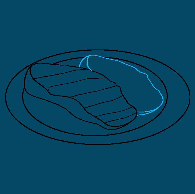 How to Draw Cartoon Steak: Step 4