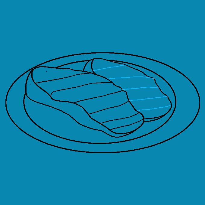 How to Draw Cartoon Steak: Step 5