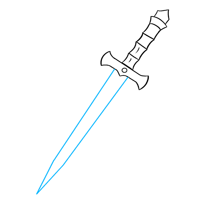 How to Draw Dagger: Step 7