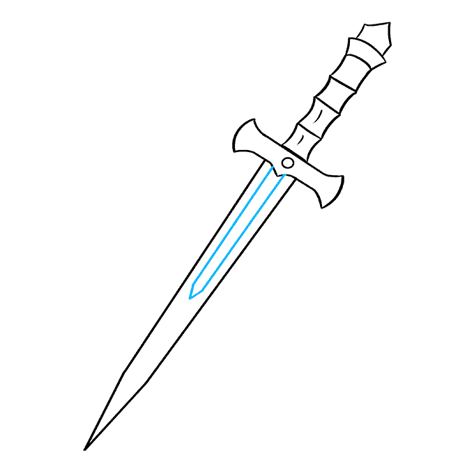 How to Draw Dagger: Step 8