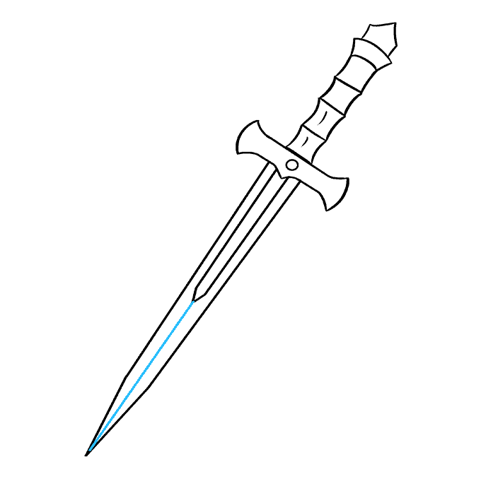 How to Draw Dagger: Step 9