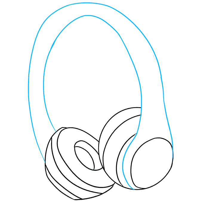 How to Draw Headphones: Step 7