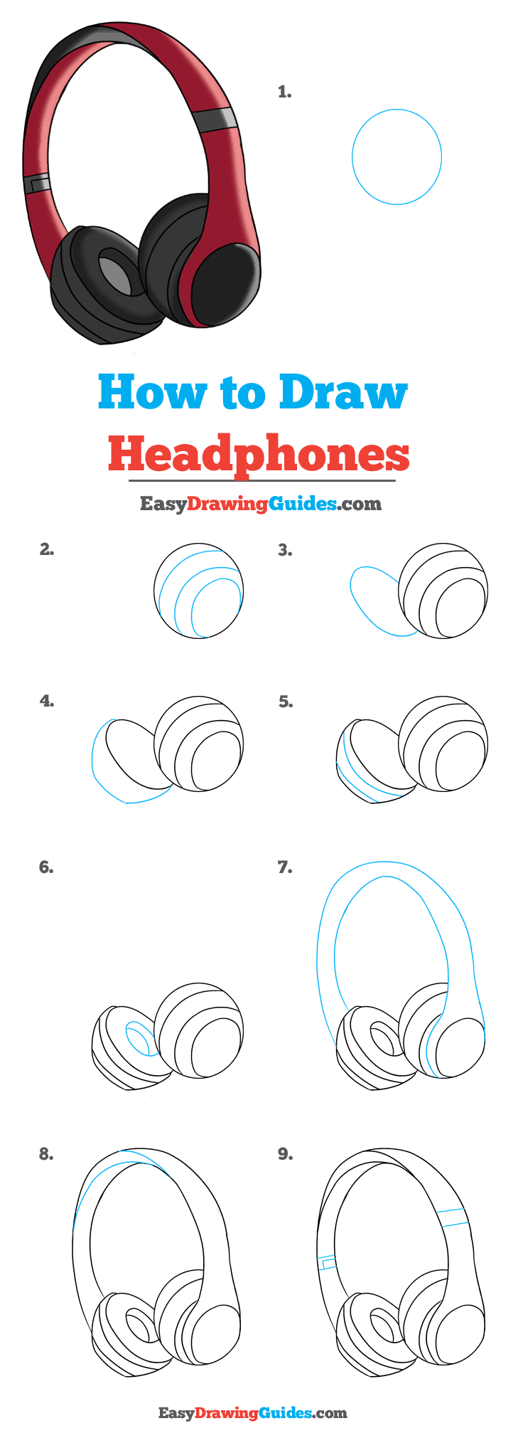 How to Draw Headphones