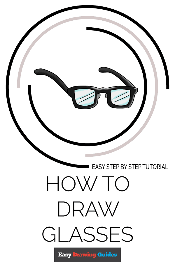 How to Draw Glasses | Share to Pinterest