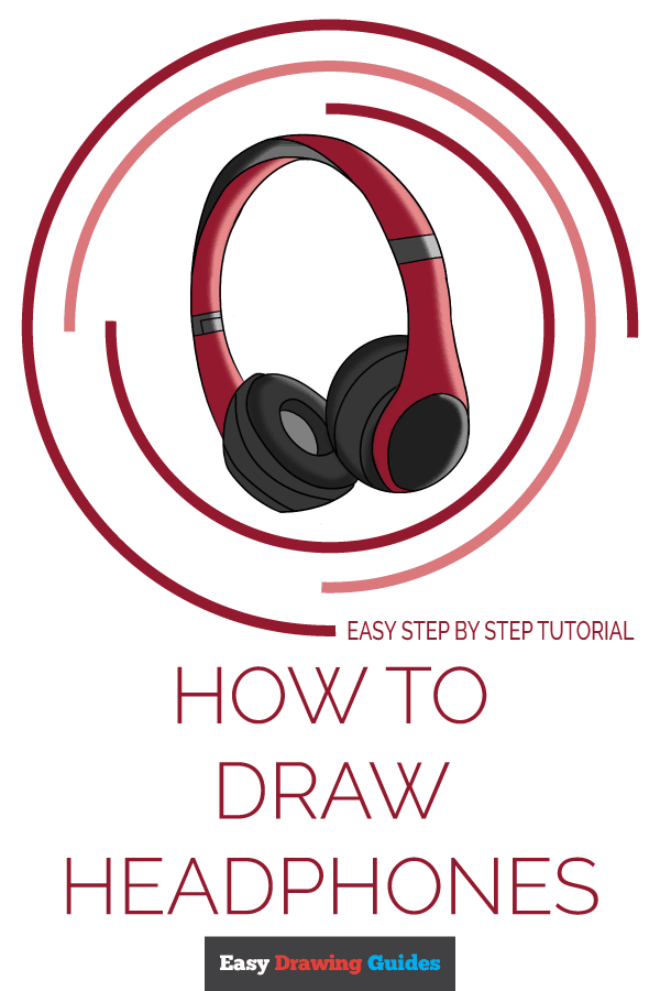 How to Draw Headphones | Share to Pinterest