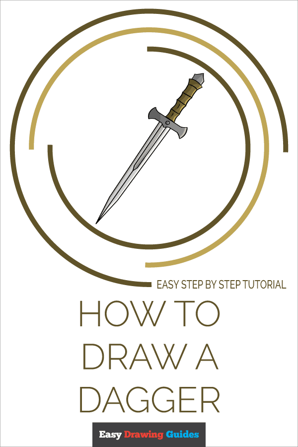 How to Draw Dagger | Share to Pinterest
