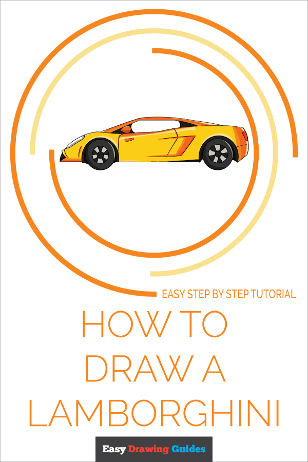 How to Draw Lamborghini | Share to Pinterest