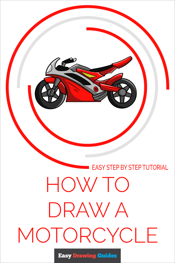 How to Draw Motorcycle | Share to Pinterest