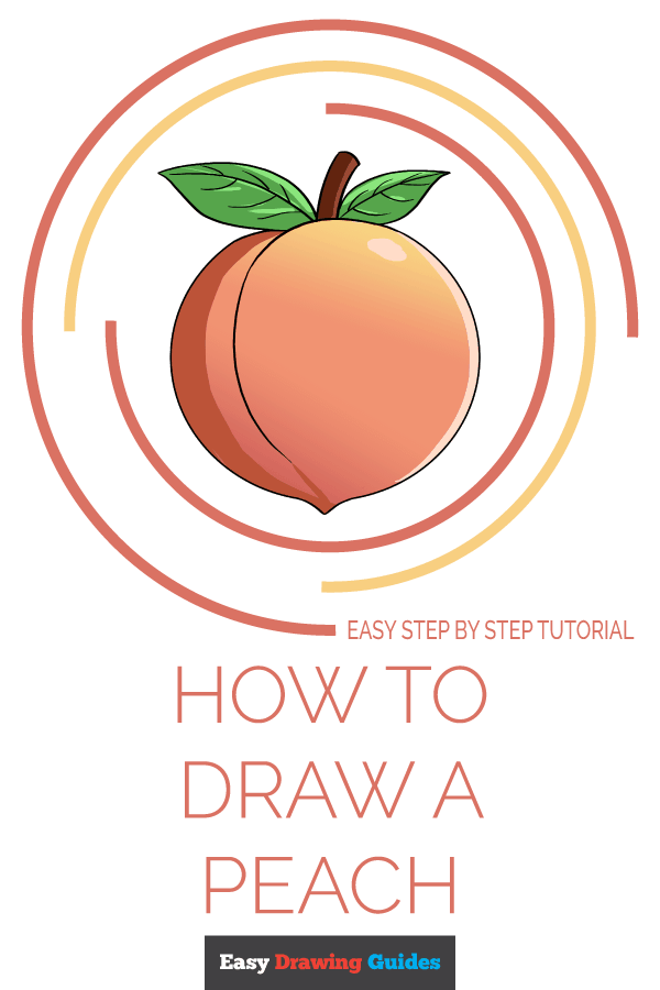 How to Draw Peach | Share to Pinterest
