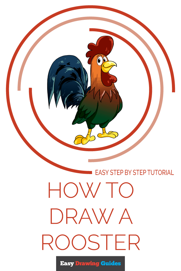 How to Draw Rooster | Share to Pinterest