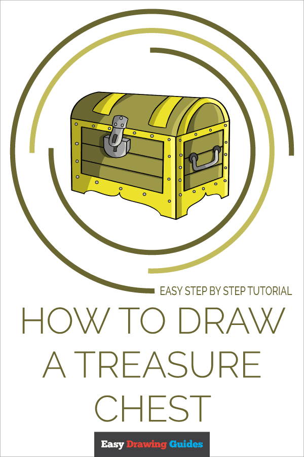 How to Draw Treasure Chest | Share to Pinterest