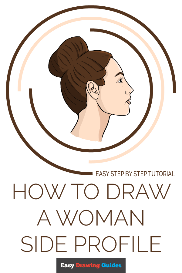 How to Draw a Woman Side Profile Pinterest Image