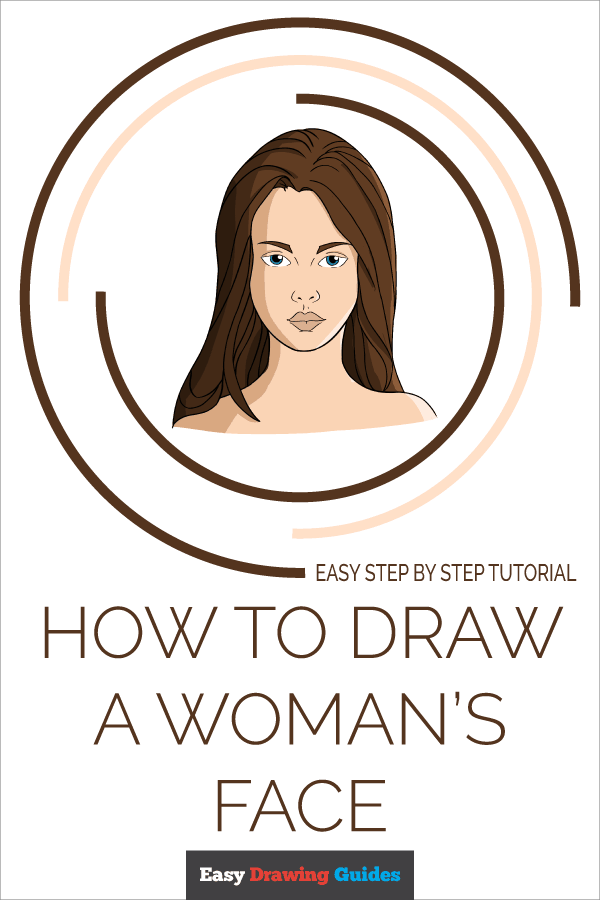 How to Draw Woman's Face | Share to Pinterest